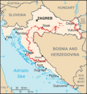 Fig. 5: Minefields in Croatia 2005, Source: Wikipedia